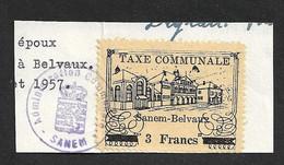 Sanem - Belvaux - Administration Communale De Sanem - Taxe Communale 5 Francs - Fiscale Zegels