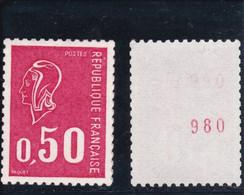 Variété Marianne De Becquet , NEUF  1664b Chiffres Rouge Cote  28€ - Unused Stamps