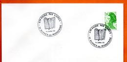 15 RUYNES EN MARGERIDE  4° FOIRE AUX LIVRES   1988 Lettre Entière N° JK 208 - Matasellos Conmemorativos