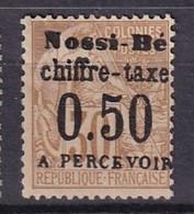 NOSSI-BE - Taxe 0.50 Sur 30 C .Alphée Dubois Neuf FAUX - Unused Stamps