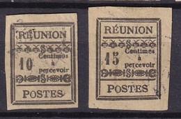 REUNION - 2 Taxes Oblitérés FAUX - Oblitérés