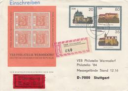 DU 1 PHILATELIE 1984 STUTTGART - VEB Philatelie Wermsdorf - Deutsche Demokratische Republik ,Wermsdorf - Eilsendung - Sobres - Usados