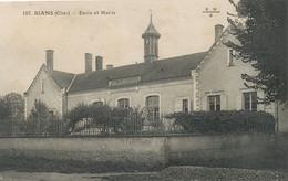 Rians 107  Ecole Et Mairie Non Voyagé EMB - Andere Gemeenten
