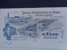 FACTURE VIERGE - 50 - DEPARTEMENT DE LA MANCHE - SAINT LÔ 190. - VINS & SPIRITUEUX : J. ELIE - Unclassified