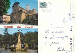 Saluti Da Ponti  (AL). Chiesa E Monumento. Viaggiata 1975 - Sin Clasificación