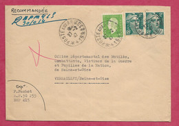 Enveloppe Avec Oblitération POSTE AUX ARMEES - 1921-1960: Période Moderne