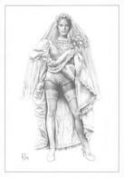 "ASLAN   - LOT De 6 Cartes "" PIN UP "" NU   CP Aslan Monochrome. Série 39 à 44 . De FRANGE , LAUREN , OLYMPIA ..ROSE ) - Aslan"
