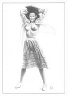 """ASLAN   - LOT De 6 Cartes """" PIN UP """" NU   CP Aslan Monochrome. Série 45 à 50 . De ..Valerie Virginia , Angelique ..Irena - Aslan"""