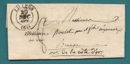 PAS DE CALAIS - LILLERS Pour Poulet à BEAUNE (Cote D'OR). LAC De 1832. Indice 7 - 1801-1848: Precursors XIX