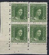 Luxembourg - Luxemburg - Timbres 1914   Marie-Adelaide  - Bloc  4x12,5 C. - Blokken & Velletjes