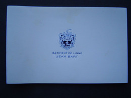 CARTE INVITATION Ancienne 1960 : MARINE / CUIRASSE JEAN BART / Photo MARIUS BAR - TOULON - Documents