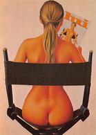 """ASLAN   - LOT De 2 Cartes """" PIN UP """" NU   """" SISSI """" ( 2 Versions De  Couleur ) Magazine LUI - Edts Nugeron - Aslan"""