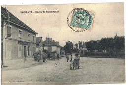 CPA  SAINT - LYE   Route De Saint - Benoit - Altri Comuni