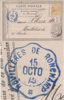 Frankreich - 15 C Ceres Carte Postales Houilleres De Ronchamp (blau !) 1875 N. - Unclassified