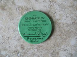 Miroir Publicitaire Aux 100000 Articles Tabac Papeterie Parfumerie SAUSSANT - BIZOT Rougemont Doubs - Other