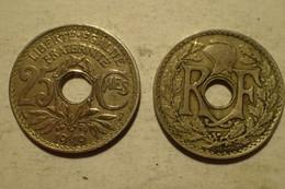 1919 - France - 25 CENTIMES, Lindauer, KM 867a, Gad 380 - F. 25 Centesimi