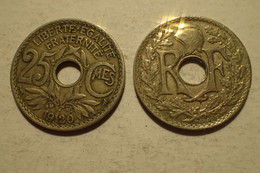 1920 - France - 25 CENTIMES, Lindauer, KM 867a, Gad 380 - - F. 25 Centesimi
