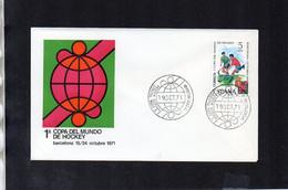 World Hockey Championships, Barcelona - FDC (Spain 1971) (4SPD106) - Hockey (Field)