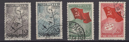 1938. RUSSIA, SOVIET, NORTH POLE FLIGHT, SET OF 4 STAMPS, USED - Used Stamps
