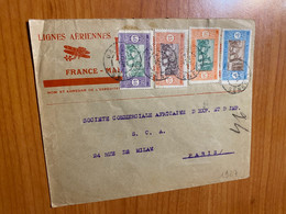Lettre De 1927 - Du Sénégal Pour La France - Lignes Aériennes - Covers & Documents