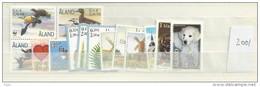 2001 MNH Aland  Year Complete, Postfris - Aland