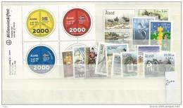 2000 MNH Aland  Year Complete, Postfris - Aland