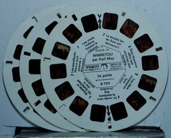 VIEW MASTER : WINNETOU  3 DISQUES  B 7311 / 7312 / 7313 - Stereoscopes - Side-by-side Viewers