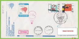 Voyo POLAND 1988 Balloon Mail Leszno Cat#57 Express - Ballonpost