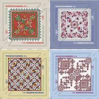 RUSSIE/RUSSIA/RUSSLAND/ROSJA 2020 MI.2867-70** ,ZAG.2651-54,YVERT.Decorative And Applied Arts. Embroidery MNH ** - Ungebraucht