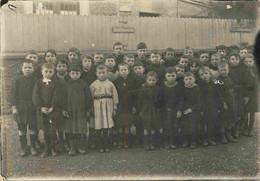 France Photo Groupe Classe école Garçons (Peut être Pomponne Seine Et Marne) Carte Photo 12,5 X 9 Cm - Lieux