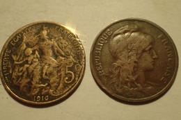 1916 - France - 5 CENTIMES, Dupuis, KM 842, Gad 165 - C. 5 Centesimi