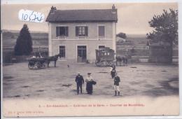 EIX-ABAUCOURT- EXTERIEUR DE LA GARE- COURRIER DE MONTMEDY - Other Municipalities