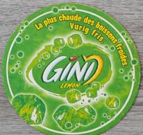 Sous-bock GINI Lemon La Plus Chaude Des Boissons Fraîches Vurig Fris Bierdeckel Bierviltje Coaster (V) - Portavasos