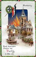 #2951 Nach Siegreichem Sturm Auf Vailly, Marktplatz 1914 (AK Halt Gegens Licht) - Controluce