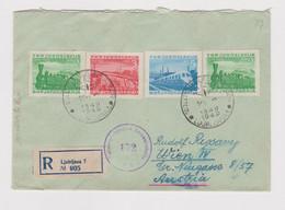 YUGOSLAVIA  LJUBLJANA 1949 Nice Censored Registered   Cover To Austria - Covers & Documents