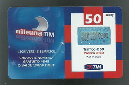 REF 79 - ITALIA - TIM - € 50 - MILLEUNA TIM - VALIDITA SET 2010 - ETU 03 MTV50-C - [2] Sim Cards, Prepaid & Refills
