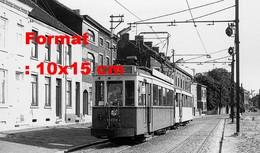 Reproduction D'une Photographie Ancienne D'un Tramway Ligne 43 à Roux En Belgique En 1960 - Reproductions