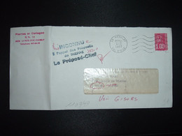 LETTRE TP M. DE BEQUET 1,00 OBL.MEC.4-7 1977 95 HERBLAY + GRIFFE INCONNU à L'appel Des Préposés De DIEPPE (76) - 1961-....