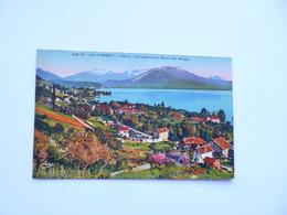 Lac D' ANNECY   -  74  - VEYRIER  -  Vue Générale Et Massif Des Bauges     -   Haute Savoie - Annecy