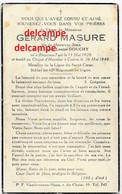 Oorlog GUERRE Gerard Masure Mouscron  Soldaat Gesneuveld Te Kuurne 26 MEI 1940 KORTRIJK Bissegem Heule - Imágenes Religiosas