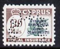 Cyprus 1960 Social Insurance 120m Perf'd SPECIMEN, U/M Ex BW Archives - Otros