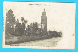 CPA VITRE Ancienne Eglise St Martin Et Cimetière (XVI Siècle) - Bretagne - 35 Ille Et Vilaine - Précurseur - Vitre
