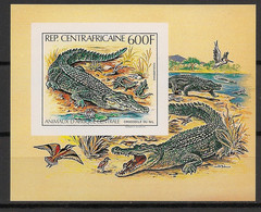 Centrafricaine - 1982 - Bloc Feuillet N°Yv. 55 - Crocodile - Non Dentelé / Imperf. - Neuf Luxe ** / MNH / Postfrisch - Other