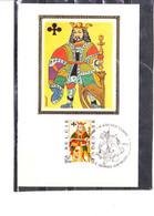 1695/8 Soie Loisirs - Cartes à Jouer - Cavalier De Carreau - Valet De Pique - Dame De Coeur - Roi De Trèfle - 1971-1980