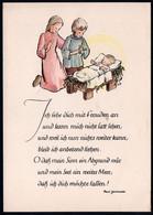 E6072 - Elisabeth Dinkelacker Glückwunschkarte Weihnachten - Weihnachtskrippe Krippe - Zonder Classificatie