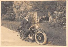 G.F-21-093 : PHOTO  MOTO SIGNEE BLANC ET DEMILLY A LYON. RHONE. - Motorräder