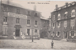 CPA Rodez (12) Place De La Mairie   Et Sa Devise   Voyagée 1914  Vers Hôpital Militaire Pantin      Ed Malzac - Rodez