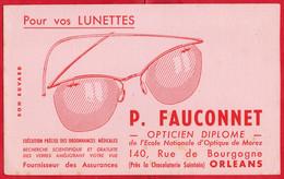 -- BUVARD / POUR VOS LUNETTES / P. FAUCONNET OPTICIEN DIPLOME à ORLEANS 140 Rue De Bourgogne -- - L