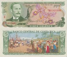 Costa Rica / 5 Colones / 1983 / P-236(d) / UNC - Costa Rica