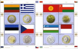 United Nations 2011 Vereinte Nationen Coins Flags - V National Symbols Banking Currency 24v MNH** 27,00 € - Gezamelijke Uitgaven New York/Genève/Wenen
